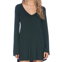 Michael Lauren Kyle V-Neck Dress in Green