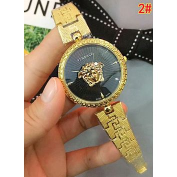 Versace Hot Sale Ladies Men Chic Quartz Movement Watches Couple Wrist Watch 2#