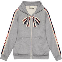 Gucci Gucci Stripe Zip Up Sweatshirt - Farfetch
