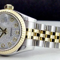 Rolex Lady Datejust Gold Steel Silver Jubilee Diamond 179173 Jubilee WATCH CHEST