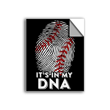 "FREE SHIPPING - ""It's In My DNA - Baseball"" Vinyl Decal Sticker (6"" tall) - Limited Time Only!"