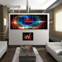 """All My Walls Abstract by Ash Carl Metal Wall Art in Multi - 23.5"""" x 60"""" - SWS00070 - Decor"""
