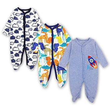 3-12 Months Jumpsuit Outfits 3 Pack Baby Clothing Set