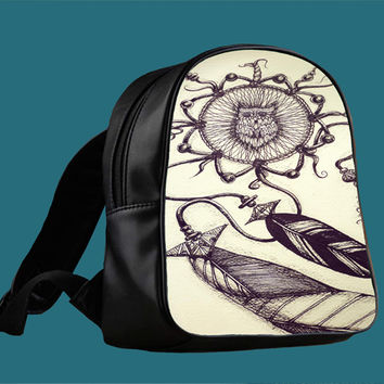 dream catcher owl for Backpack / Custom Bag / School Bag / Children Bag / Custom School Bag *