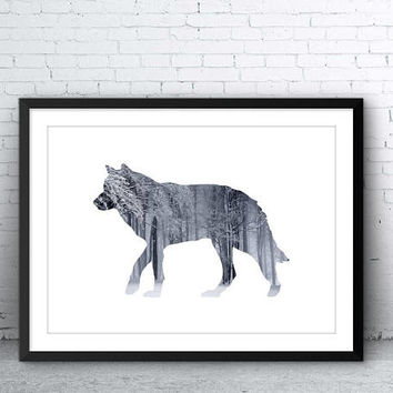 Wolf Print, Large Printable Poster, Wolf Photography, Photo Print, Printable Wolf, Wolf Wall Art, Poster Art, Instant Art