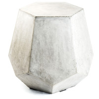 Eco-concrete Pentacle Side Table (Vietnam) | Overstock.com Shopping - The Best Deals on Coffee, Sofa & End Tables