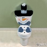 Snowman Toilet Cover Set