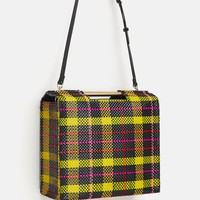 PLAID PRINT SHOPPER BAG DETAILS