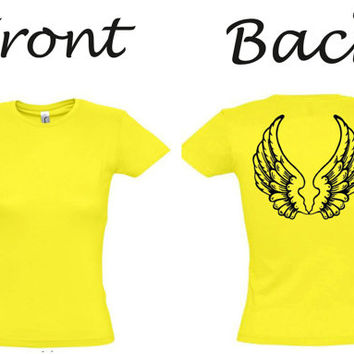 Angel wings,gift ideas,birthday gift,party tshirt,gift for girlfriend,gift for wife,best friend gift,gift for mom,gift for sister,fun shirt