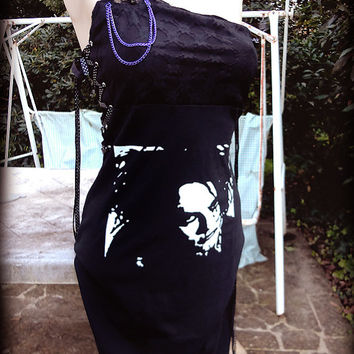 New Robert Smith black asymmetric DRESS by You bad Girl - Handmade deconstructed diy fashion. Superb sexy lovely must have gift - The CURE