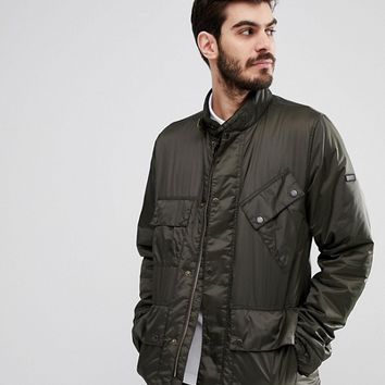 Barbour International Quilted Jacket in Green at asos.com