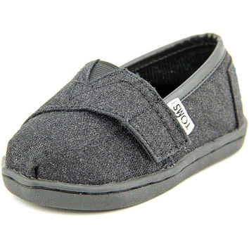 Toms Toddlers Tiny Classic Casual Shoe Black Glimmer 4 Toddler M