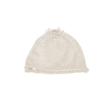 Handmade Cotton Beanie Newborn Hats - 3 to 6 months old