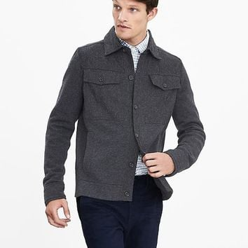 Banana Republic Mens Filpucci Italian Wool Sweater Jacket