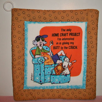 Aunty Acid Quilted Pot Holder Handmade Kitchen Decor Cooking Baking