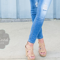The Bailey Wedges in Beige