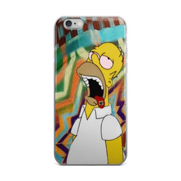 Homer Simpson On Acid Tabs iPhone 4 4s 5 5s 5C 6 6s 6 Plus 6s Plus 7 & 7 Plus Case