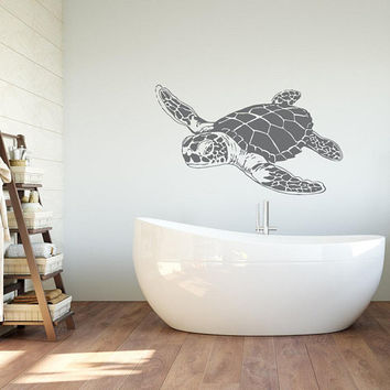 Turtle Wall Decal, Sea Animals Tortoise Decals, Sea Animals Turtle Wall Art, Turtle Wall Art, Sea Ocean Bathroom Nursery Bedroom Decor K226