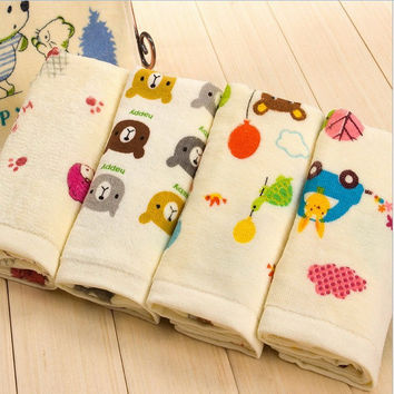 Free Shipping Comfortable Baby Face Towels 100% Cotton Children Towels Cartoon Face