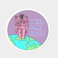 Introvert Awkward Tumblr Space Galaxy Teen Snapchat Sticker Prin Sticker By BigKidult Design By Humans