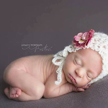 Crochet Pattern for Kate Baby Bonnet Hat - 4 sizes, newborn to toddler- Welcome to sell finished items