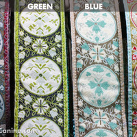 Your Dog is so Fancy WIDE collar: handmade dog collars available in Wine, Green, Blue or Pink - matching dog leashes available