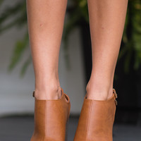 The Serena Heel, Tan