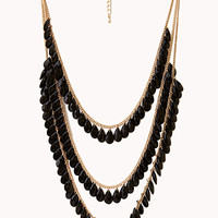FOREVER 21 Cascading Bead Layered Necklace