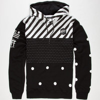 Neff Black N White Mens Hoodie Black  In Sizes