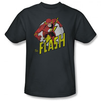 Flash Run Mens Charcoal T-Shirt