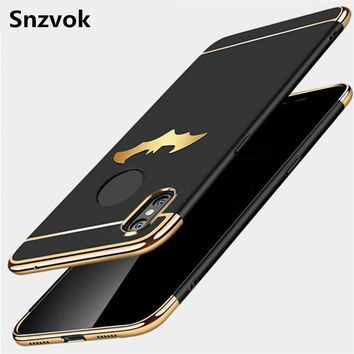 Batman Dark Knight gift Christmas Snzvok Ultra-thin 3 in 1 3D Batman Wings Back Cover for Iphone 6 7 8 plus X PC Phone Case for Iphone 5 5s 6 6s Matte Back Case AT_71_6