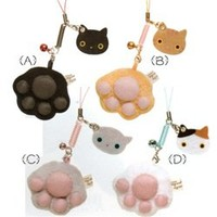 "San-X Kutusita Nyanko 2"" Paw Screen Cleaner with Kitty Mascot"