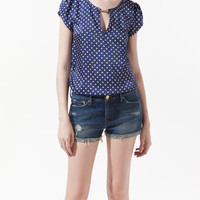 POLKA DOT PRINTED BLOUSE