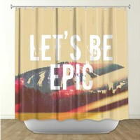 Artistic Shower Curtain | Rachel Burbee | Lets Be Epic | Dianoche Designs