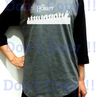 The Hobbit Walking Unisex Men Women Dark Gray Long Sleeve Baseball Shirt Tshirt Jersey
