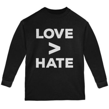 CUPUPWL Activist Love is Greater Than Hate Youth Long Sleeve T Shirt