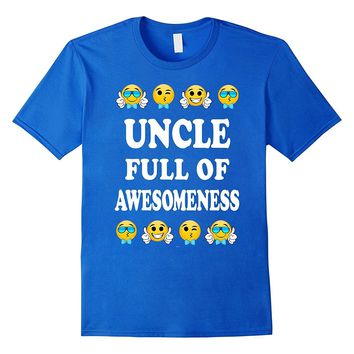 Mens Uncle emoji fathers day gifts from niece nephew tee shirt