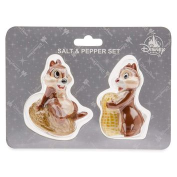 Disney Parks Chip & Dale Salt and Pepper Shaker New