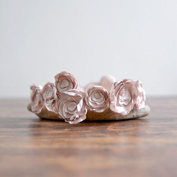Something Sweet - bridal headband, simple flower wedding headpiece