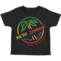 Bob Marley Boys' We're Jammin' Childrens T-shirt Black