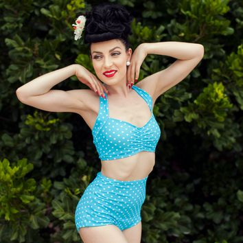 Baby Blue Dots Swimsuit