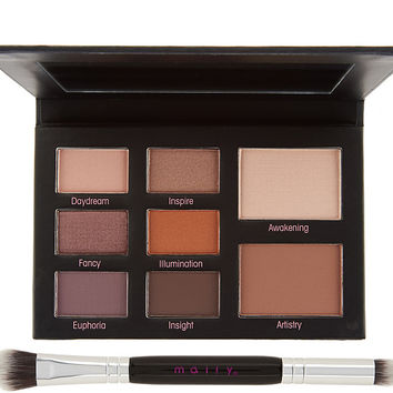 Mally Muted Muse Shadow Palette w/ Double-Ended Brush — QVC.com