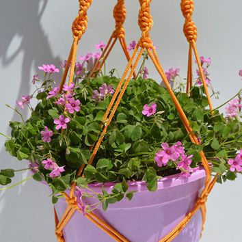 Indoor Outdoor Plant Pot Support Macrame Jute Hanging Plant Holders Plant Hanger