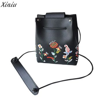 Fashion  Women Messenger Bags Retro Female Simple Floral Bag Crossbody Shoulder Bag Handbag high quality Bolsas Femininas
