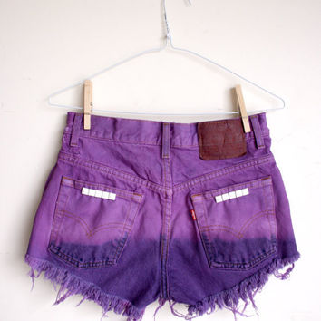 Waist 295 Studded High Waisted Levi Shorts by thedaisies on Etsy