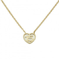 """14k Yellow Sweet 15 Necklace - 1"""" Extension"""