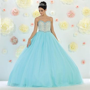 Long Quinceanera Ball Gown Sweet 16 Prom Dress