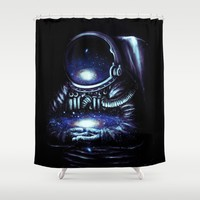 The Keeper Shower Curtain by Nicebleed