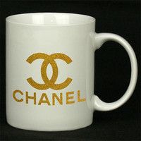 Chanel Gliter Gold For Ceramic Mugs Coffee *