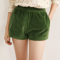 Elastic Waist Drawstring Mini Shorts